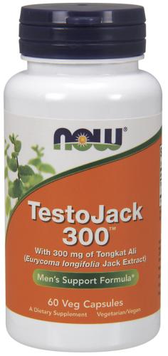 TestoJack 300, 60 Veggie Caps - Now Foods