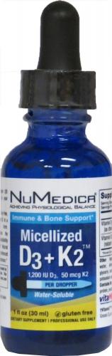 Micellized D3/D-3 + K2 - 1 fl. Oz - NuMedica