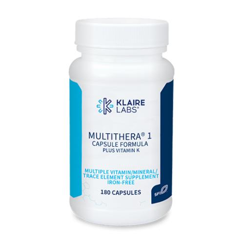 MultiThera® 1 Capsule Formula plus Vitamin K - 180 Veg Caps - Klaire Labs