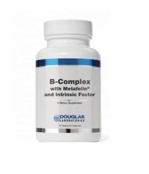 B-Complex w / Metafolin and Intrinsic Factor - 60 veg caps - Douglas Labs
