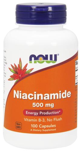 Niacinamide, 500 mg, 100 Capsules - Now Foods