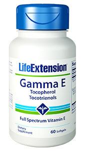 Gamma E Tocopherol/Tocotrienols - 60 softgels - Life Extension