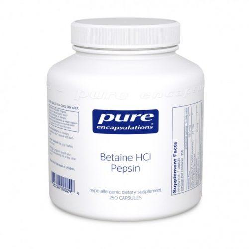 Betaine HCL Pepsin 250 caps - Pure Encapsulations