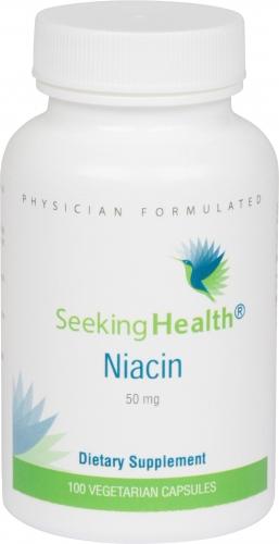 Niacin - 50 mg - 100 Vegetarian Capsules - Seeking Health