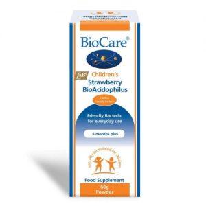 Children's Strawberry BioAcidophilus (Probiotic) 60g - BioCare