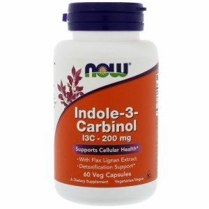 Indole-3-Carbinol (I3C) - 200mg - 60 Veg caps - NOW foods