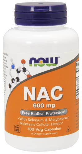 NAC, (N-Acetyl Cysteine), 600 mg, 100 Veggie Caps - Now Foods