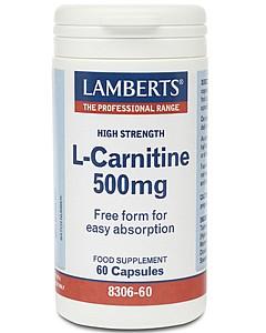 L-Carnitine 500mg, 60 Caps - Lamberts