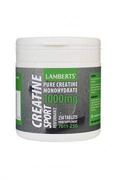 Creatine Tablets 1000mg, 250 tabs - Lamberts