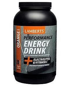Energy Drink, Refreshing Orange Flavour, 1000 g - Lamberts
