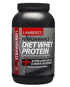 Diet Whey Protein Strawberry Flavour, 1 kg - Lamberts
