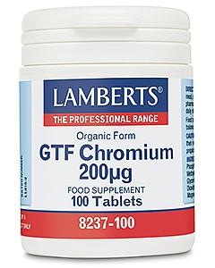 GTF Chromium (as Picolinate), 100 tabs - Lamberts