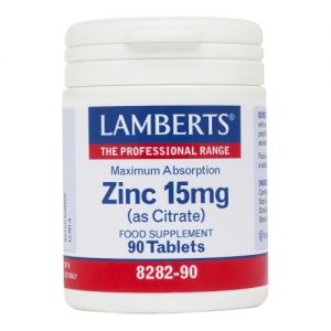 Zinc 15mg-  (as Citrate) 90 tabs - Lamberts