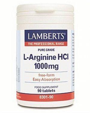 L-Arginine HCl 1000mg 90 Tabs - Lamberts