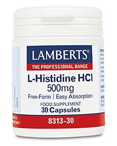 L-Histidine HCl 500mg 30 Caps - Lamberts