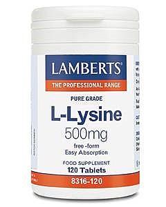 L-Lysine 500mg 120 Tabs - Lamberts