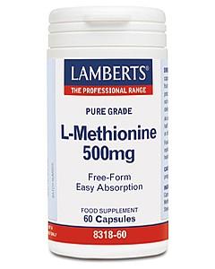 L-Methionine 500mg, 60 Caps - Lamberts