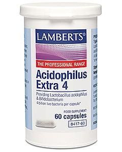 Acidophilus Extra 4, 60 Caps - Lamberts