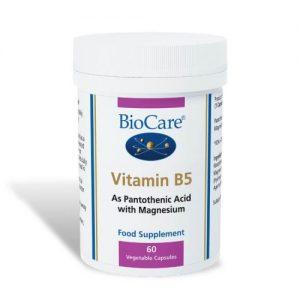Vitamin B5 (Magnesium Plus Pantothenate) 60 Caps - Biocare