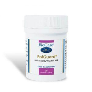 FolGuard® (Folic Acid & B12/B-12) 30 Caps - Biocare