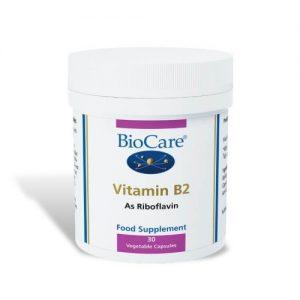 Vitamin B2- 30 Veg Capsules - Biocare