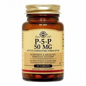 P-5-P (P5P), 50 mg, 50 Tablets - Solgar