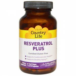 Resveratrol PLUS - 120 caps - Country Life
