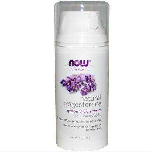 Natural Progesterone, Liposomal Skin Cream, Calming Lavender, 3 oz (85 g) - Now Foods