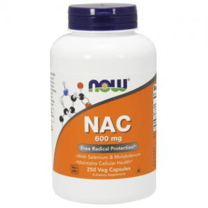 NAC, 600 mg, 250 Veg Caps - Now Foods