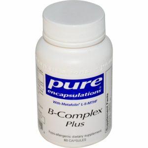 B-Complex Plus 60 veg caps - Pure Encapsulations