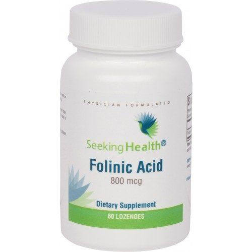 Folinic Acid - 800 mcg - 60 Lozenges - Seeking Health