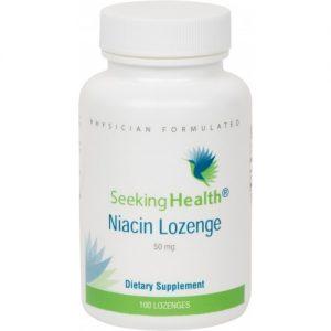 Niacin - 50 mg - 100 Lozenges - Seeking Health