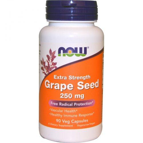 Grape Seed, Extra Strength, 250 mg, 90 Veg Caps - Now Foods