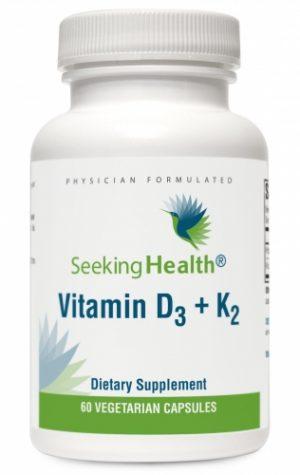 Vitamin D3 (D-3) + K2 - 60 Vegetarian Capsules - Seeking Health