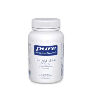 Bromelain 2400 - 500mg, 60 caps - Pure Encapsulations