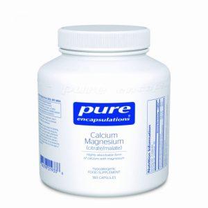 Calcium Magnesium (citrate/malate) 180 veg caps - Pure Encapsulations
