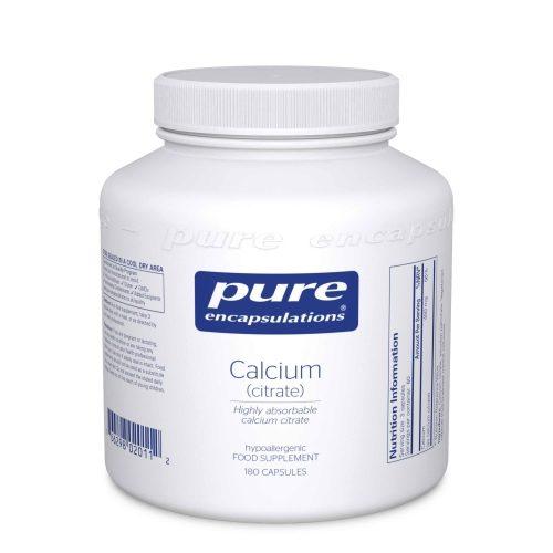 Calcium Citrate 150mg, 180 veg caps - Pure Encapsulations