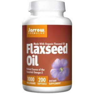 Flaxseed Oil Softgels (Certified Organic 1000mg) - 200 Softgels - Jarrows