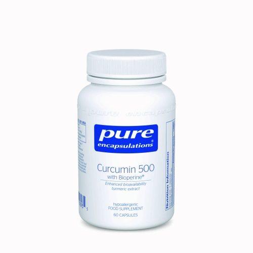 Curcumin 500 with Bioperine, 60 veg caps - Pure Encapsulations