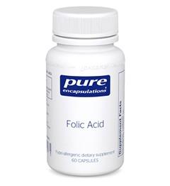 Folic Acid, 800mcg 60 veg caps - Pure Encapsulations