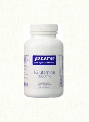 L-Glutamine, 1000 mg 90 veg caps - Pure Encapsulations