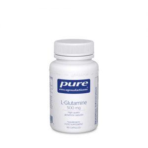 L-Glutamine, 500mg 90 vcaps - Pure Encapsulations
