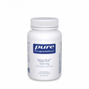 Niacitol (Flush-free Niacin) 500mg 60 vcaps - Pure Encapsulations