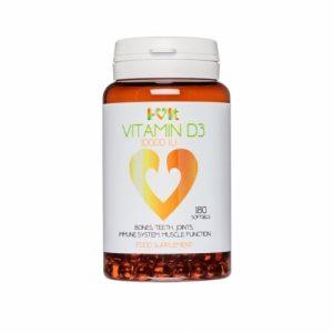 Vitamin D3/D-3 10,000 IU - 180 softgels - i-vit (soy free)