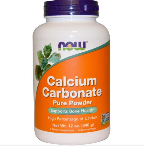 Calcium Carbonate Powder, 12 oz (340 g) -Now Foods