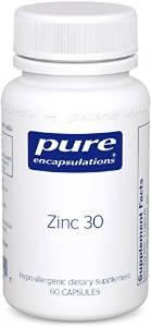Zinc 30 60 vcaps - Pure Encapsulations