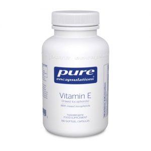 Vitamin E (with mixed tocopherols) 400 IU, 90 softgels - Pure Encapsulations