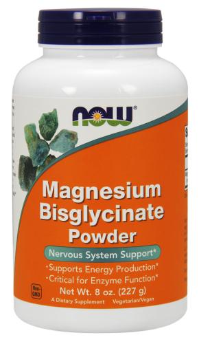 Magnesium Bisglycinate Powder, 8 oz (227 g) - Now Foods