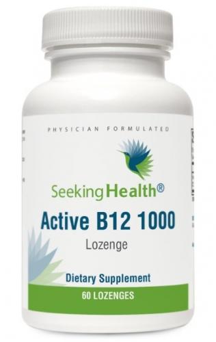 Active B12/B-12 1000 - 60 Lozenges - 1000 mcg (as Adenosylcobalamin and Methylcobalamin) - Seeking Health