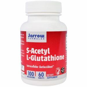 S-Acetyl L-Glutathione, 100 mg, 60 Tablets - Jarrow Formulas